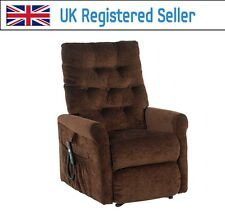 Willis & Gambier Full Flat Rise and Recline Electric chair 832 Chocolate Brown