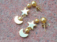 Sailor Cosplay Moon PGSM Earrings Gold Orbs w/Stars, Custom Doll Prop Anime