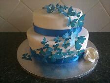 31 prédécoupées mélangé taille Papillons Comestibles Décoration Gâteau célébration de mariages BL1