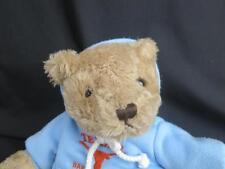 "HERRINGTON TEDDY BEAR TEXAS BABY LONGHORN BLUE HOODIE PLUSH HANDMADE ANIMAL 12"""