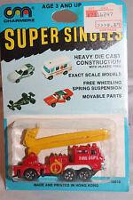 1970's Playart Charmerz Super Singles Snorkel Fire Truck, Mint on Card