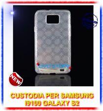 Pellicola+Custodia CERCHI BIANCA per Samsung I9100 galaxy s2 plus I9105
