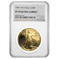 1991 W 1 oz $50 Proof Gold American Eagle NGC PF 70 UCAM