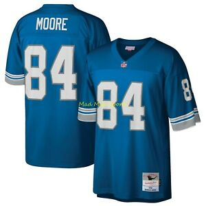 HERMAN MOORE Detroit LIONS Blue MITCHELL & NESS Legacy THROWBACK Jersey Sz S-2XL