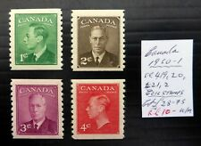 CANADA 1950 G.VI Coils As Described U/M NP22