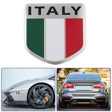 "ALUMINUM Italy Flag Emblem Sticker 3D Decal For Auto, Car, & Truck 2""x2"" Italian"