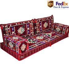 Arabic Sofas Turkish Seating Oriental Majlis Kilim Floor Corner Burgundy FOAM
