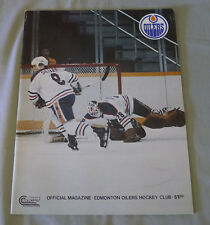 1978-79  WHA Edmonton Oilers vs Winnipeg Jets Hockey Program