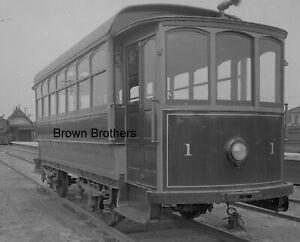 1911 Long Island Railroad No 1 Battery Trolley Glass Photo Camera Negative BB