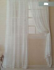 "Simply Shabby Chic White  Batiste Window Panel  84"" L"