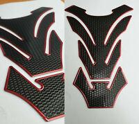 Tankpad Tankschutz Motorrad Carbon Optik Schwarz Rot universal Suzuki Honda
