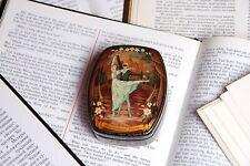 Romeo and Juliet lacquer box Russian ballet art hand-painted miniature Kholui