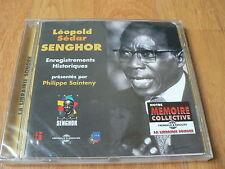 Léopold Sédar Senghor - Enregistrements Historiques - Frémeaux - CD NEUF SEALED