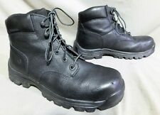 MENS WOLVERINE BLACK LEATHER STEEL TOE HIKING FARM WORK BOOTS US SIZE 12 M