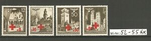 Generalgouvernement Mi-Nr.: 52-55 Rotes Kreuz 1940 sauber postfrischer Satz