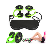 AB Wheels Roller Stretch Elastic Abdominal Resistance Pull Rope Tool Gym Fitness
