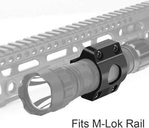 """Tactical Offset Light Mount 1"""" Ring Mount for Flashlight Scope on MLOK Rail"""