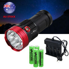 SKYRAY 30000LM 10x XM-LT6 LED Rechargeable Flashlight Torch Work LAMP 4x18650