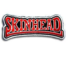Skinhead Patch Iron on Biker Music Ska Reggae Boots Street Punk Heavy Metal Sew