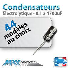 Condensateur chimique - électrolytique - Radial - Lots multiples, prix dégressif