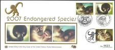 UNITED NATIONS COMBO FDC - 2007 ENDANGERED SPECIES - NUMBERED SILK CACHET!