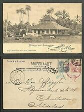 Soekaboemie Mosque Sukabumi Java Indonesia stamps 1899
