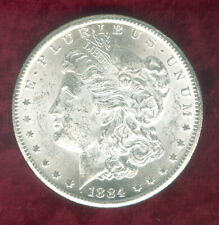 1884-CC Morgan Dollar in Heavily Mint Frosted BU