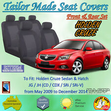 Tailor Made Black Seat Covers for Holden Cruze Sedan & Hatch: 06/2009 to 12/2014
