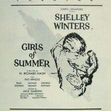 Girls of Summer Program 1956 Shelley Winters Garfein Peppard Philadelphia Play