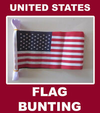 United States Flag Bunting 20 USA American Polyester String Bunting Flags