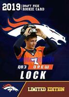 2019 DREW LOCK DRAFT 1ST EVER ROOKIE GEMS RC NFL Draft RC DENVER BRONCOS🔥HOT.
