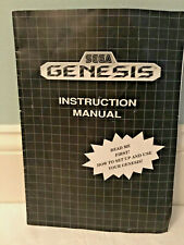 Sega Genesis Video Entertainment System Console Instruction Manual