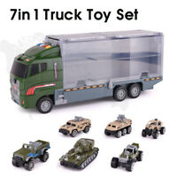 7Pcs/Set Kids Police Truck Construction Truck Vehicle Car Toy For Kids Gifts t