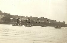 WWI German Real Photo PC- Pioneers- Combat Engineers- Pontoon Bridge Boat