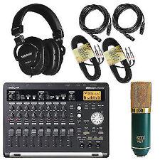 Tascam DP-03SD Studio Recorder + MXL V67G Microphone +TH-MX2 Headphones +CABLES