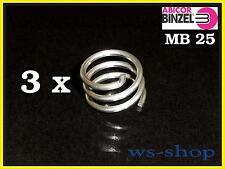 3 X MB 25 TBi 250 Pince de fixation pour Buse gaz,Brûleur Abicor BINZEL Ø 1,5mm