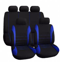 Universal Car Seat Covers Full Set Sporty Blue/Black Washable Compatible New