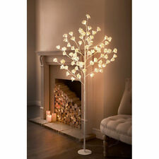 Tall Led Rose Tree Light Floor Lamp White Flower Petals Home Decoration