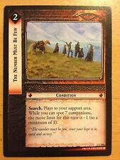 Lord of the Rings CCG Fellowship 1U260 The Number Must Be Few LOTR TCG