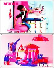 2x IKEA CANADA BARBIE ROOM PINK GIRL ON THE PHONE RARE COLLECTIBLE GIFT CARD LOT