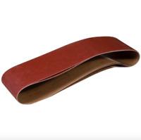 Powertec 6x48 inch 80 Grit Aluminum Oxide Sanding Sander Belt 3 Sandpaper Belts