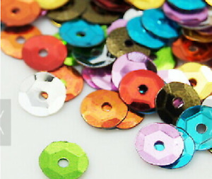 Save 25% 5g 20g 50g Cupped Sequins 6mm 8mm Round Bold Colour Pastel Fancy Also