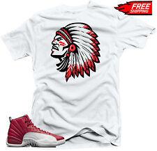 "T-shirt to match Jordan Retro 12 Alternate Gym Red sneakers""Chief"" White Tee"
