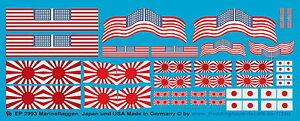Peddinghaus 2993 1/350 Marineflaggen der USA und der japanischen Marine