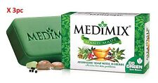 3pc X Medimix Ayurvedic Herbal Everyday Skin Protection soap with 18 Herbs 75g
