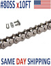 #80SS Roller Chain 10 FT + Free Connecting Link - Same Day Priority Shipping