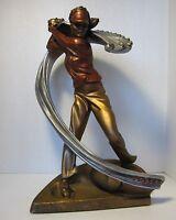 "Rare Austin Sculptures Lady Golfer Signed A. Daniels 16"""