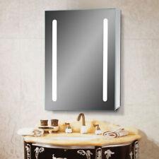 500x650 mm LED Illuminated Bathroom Mirror Cabinet Cupboard Touch Sensor
