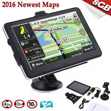 "7"" Truck Car GPS Navigator Navigation 8GB Navi Canada Mexico US EU UK World Map"