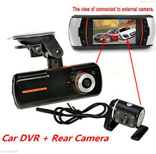 "2.7"" 1080P HD Dual Lens Car Dash Cam DVR Rear Camera Night Vision Video Recorder"